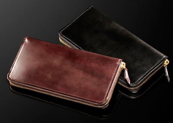 【再販売】人気の表裏シェルコードバンメンズ長財布の決定版!