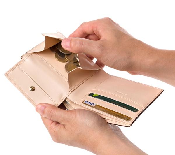 コードバン二つ折り財布